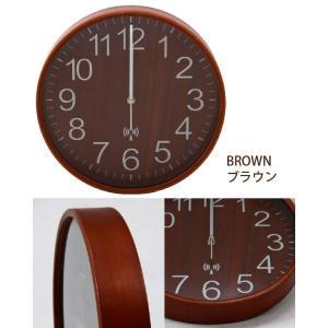 プライウッド 電波掛時計 直径28cmの詳細画像2