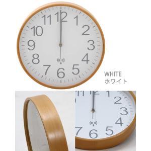 プライウッド 電波掛時計 直径28cmの詳細画像3