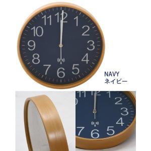 プライウッド 電波掛時計 直径28cmの詳細画像4
