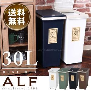 ゴミ箱 ふた付き /  プッシュ式ダストボックス アルフ 30L  「送料無料」の写真