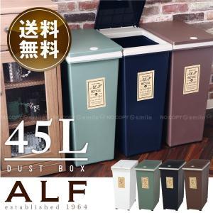 ゴミ箱 ふた付き /  プッシュ式ダストボックス アルフ 45L  「送料無料」の写真