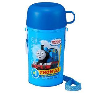 ショルダー冷水筒 保冷タイプ 450ml きかんしゃトーマス TMS No.3 / トーマス 水筒 ショルダー コップ付き ボトル 保冷|smile-hg