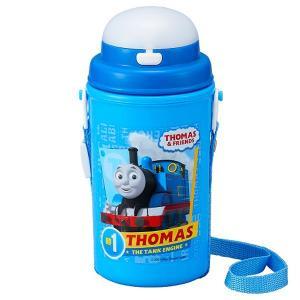 ストロー付き 水筒 保冷タイプ 450ml きかんしゃトーマス TMS No.3 / トーマス 水筒 ストロー ストローボトル 軽量 ボトル|smile-hg