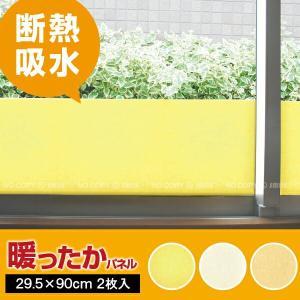 結露防止 断熱 窓ガラスフィルム/ 暖ったかパネル 2枚入り