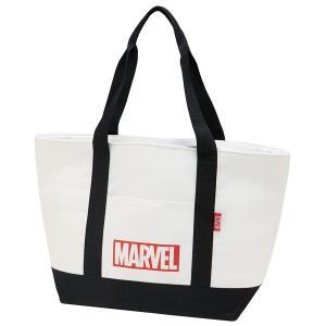 ショッピングバッグ 保冷 /  麻風 保冷 トートショッピングバッグ MARVEL マーベル ロゴ|smile-hg