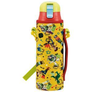 子供用 水筒 /  超軽量 ロック付 ワンプッシュ ダイレクト ステンレスボトル 580ml ウエット生地 ボトルカバー付 トイストーリー|smile-hg