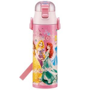 ロック付 ワンプッシュ ダイレクト ボトル 580ml プリンセス 19  ディズニー プリンセス  超軽量 軽い 軽量 ステンレス ボトル 子供用 水筒 保冷|smile-hg