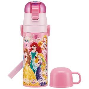 保温 保冷 超軽量 2WAY ステンレス ボトル 430ml プリンセス 19 /  ディズニー プリンセス  子供用 水筒 ステンレス 軽い まほうびん コップ付|smile-hg