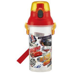 子供用 水筒 /  食洗機対応 直飲み プラ製 ワンタッチクリアボトル 480ml カーズ19|smile-hg