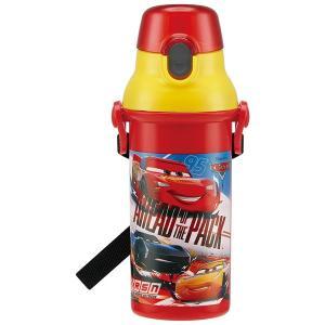 子供用 水筒 /  食洗機対応 直飲み プラワンタッチボトル 480ml カーズ19|smile-hg