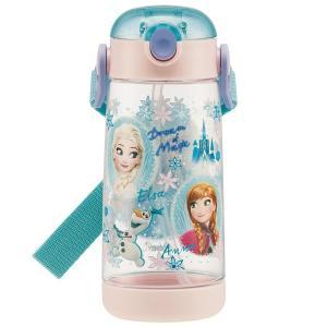 クリア ストローボトル 480ml アナと雪の女王 19 / ディズニー  アナ雪 子供用 水筒 軽量 プラボトル 透明 プッシュ式 ストロー ベルト かわいい|smile-hg