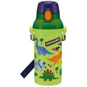 子供用 水筒 /  食洗機対応 直飲み プラワンタッチボトル 480ml ディノサウルス|smile-hg