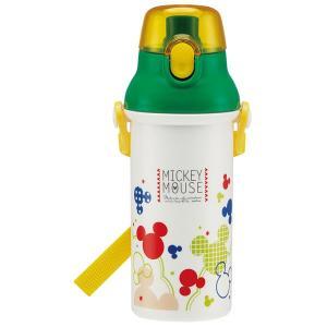 子供用 水筒 /  食洗機対応 直飲み プラワンタッチボトル 480ml Mickey カラフルポップ ミッキーマウス|smile-hg