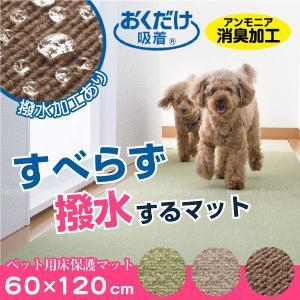ペット カーペット /  ペット用床保護マット 60×120cm おくだけ吸着  「日本製」 「送料無料」|smile-hg