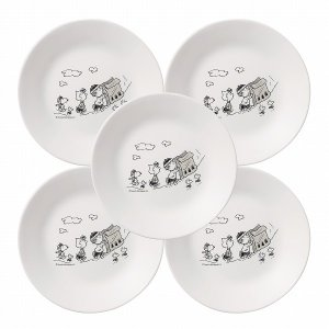 コレール スヌーピー モノトーン小皿5枚セット [CP-9391] 「送料無料」 「nyuka9下」