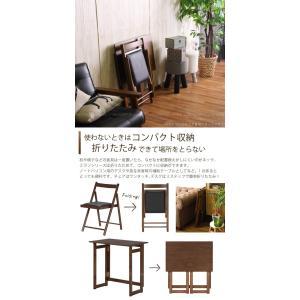 フォールディング テーブル&チェアーセット ミラン 「送料無料」|smile-hg|03