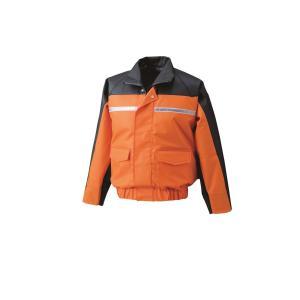 空調服 6097G22C30S6 ナダレス空調服ブルゾン(リチウムイオン大容量バッテリーセット) 6097G オレンジ4L (ファン色:グレー)