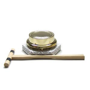 ヘソ付 鉦鼓(浄土宗用) 鉦鼓の直径 7.5cm(bg-71) smile-stone