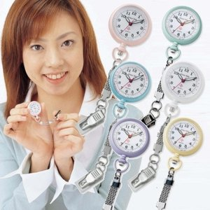 【メール便送料無料】 NEWナースウォッチ 【ナース時計 クリップ時計 看護師 懐中時計 レディース】
