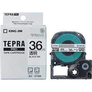 KING JIM PROテ-プカ-トリッジ 透明ラベル 黒文字ST36K 36mm smilefield