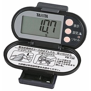 タニタ(TANITA) 脂肪燃焼量付き歩数計 ブラック FB-725-BK|smilefield