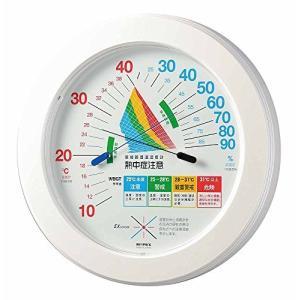 エンペックス気象計 温度湿度計 環境管理温湿度計 【熱中症注意】 壁掛け用 日本製 ホワイト TM-2482|smilefield