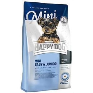 ハッピードッグ (HAPPY DOG) ミニベビー&ジュニア 子犬用 ドライフード 小型犬 パピー グルテンフリー (1kg) smilefield