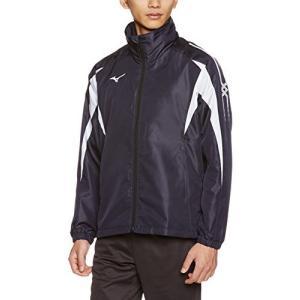 [ミズノ] トレーニングウェア ブレスサーモ ウォーマーシャツ 32JE7550 ディープネイビー×ホワイト 日本 XL (日本|smilefield