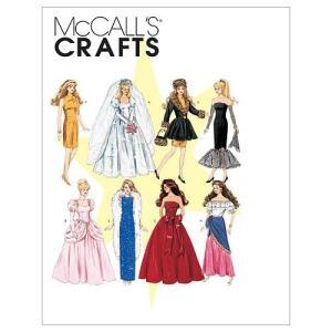 【McCall】バービーやジェニーなど 29cmドール用 8種類のドレスの型紙セット *6232|smilefield