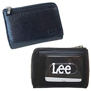 Lee(リー)イタリアンレザー小銭入れ(パスケースあり) 520236クロ|smilefield