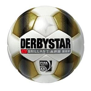 Derby Star Ballon de football en APS Or/brillant Blanc or 5|smilefield