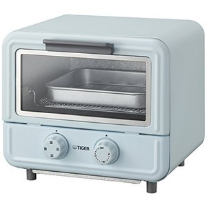 タイガー オーブン トースター ぷちはこ ブルー レシピ付き やきたて KAO-A850-A Tiger|smilefield
