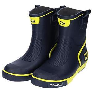 ダイワ(DAIWA) フィッシングブーツ ショートネオデッキブーツ ネイビー/ライム M DB-2410 船釣り用長靴|smilefield