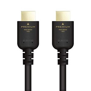 エレコム Premium HDMI ケーブル 1m 4K×2K対応 PS5 対応 ブラック DH-HDPS14E10BK smilefield