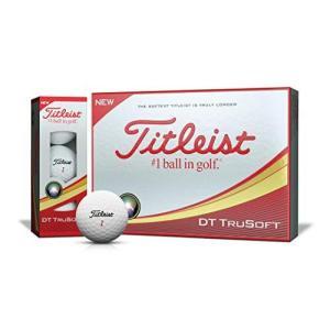 TITLEIST(タイトリスト) ゴルフボール 2018 DT TRUSOFT 2ピース 12個入り ホワイト T6033S-J|smilefield