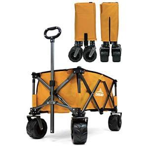 DABADA(ダバダ) キャリーカート 耐荷重150kg 容量95L アウトドアワゴン 折りたたみ 軽量 大型タイヤ 4輪 (マスタ?|smilefield