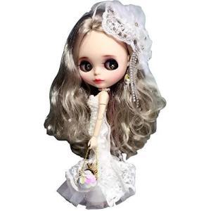 Dolly Paraブライスりかちゃんドール衣装 ウェディングドレス マーメイド レースドレス ワンピース 人形?|smilefield