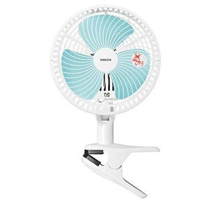 山善 扇風機 18cm クリップ式 卓上 スライドスイッチ 風量2段階調節 タイマー機能付き ホワイトブルー YCT-F181(WA)|smilefield