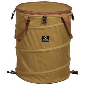 [クイックキャンプ] QUICKCAMP アウトドア キャンプ トラッシュボックス サンド ポップアップ ゴミ箱 45L コンパク|smilefield
