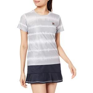 [フィラ テニス] テニス 半袖ゲームシャツ 吸水 速乾 UVカット ストレッチ VL2131 レディース シルバーグレー 日本|smilefield