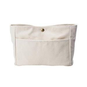 APSOONSELL 北欧 布製バッグインバッグ シンプル 横長 小さいサイズ インバック ポーチ 帆布 バックインバック レ smilefield