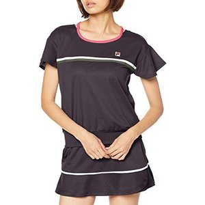 [フィラ テニス] テニス 半袖ゲームシャツ 吸水 速乾 UVカット VL2204 レディース チャコール 日本 S (日本サイズS?|smilefield