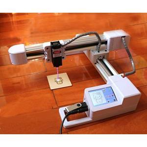 レーザー彫刻機 高精度 高安定性を備えたでDIY彫刻機 XY作業エリア175x155mm 高さ制限なし 小型 軽量 刻印 機械 彫 smilefield