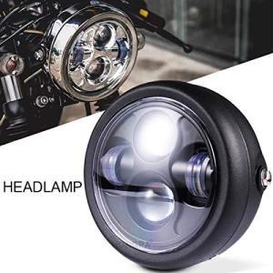 バイク ミニType プロジェクター LEDヘッドライト ユニット ケース一式 YBR125 SR400 TW200 SR125 TW225 XS250 ルネッサ SRV250 smilefield