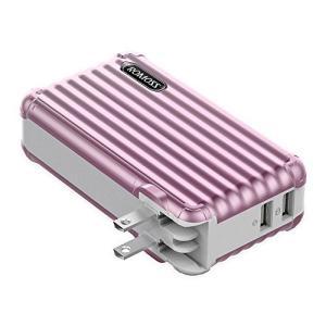 モバイルバッテリー AC充電器 10000mAh ROMOSS ACアダプター コンセント 一体型 大容量 2in1 USB急速充電器 プラグ搭載|smilefield