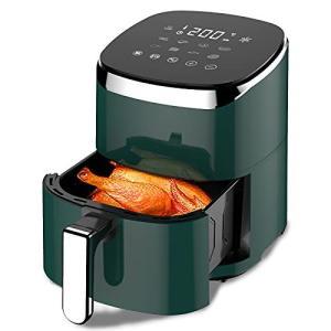 ノンフライヤー 4.5L大容量 電気フライヤー 揚げ物ノンオイル 惣菜 1~5人 タッチパネル エアーフライヤー LEDディ|smilefield