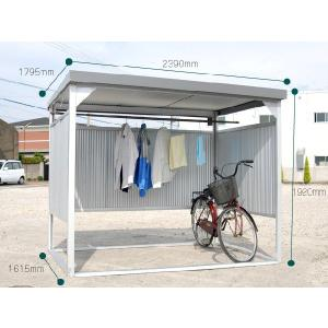 ●家庭やマンションでは自転車置場、物干し台に! ●工場などでは従業員の更衣スペース、喫煙場所にも! ...