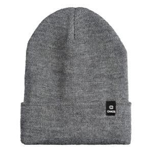CHAOS カフ付きビーニー ニット帽 フリースライナー 100%メリノウール - CHARCOAL|smilehometen