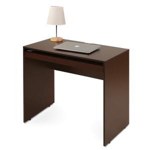 DEVAISE パソコンデスク 勉強机 デスク単品 キーボード置き付き 幅850*奥行450*高さ745mm コンパクトサイズ 省スペース 木製 簡単|smilehometen