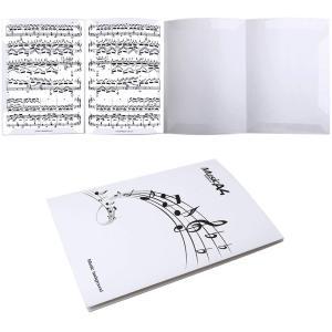 4面 楽譜ファイル 書き込みできる バンドファイル 最大6枚収納 発表会 演奏会 楽譜ホルダー(ホワイト)|smilehometen
